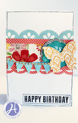 Happy Birthday card by Leanne Allinson
