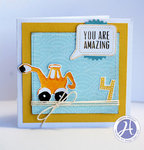 You Are Amazing card by Leanne Allinson