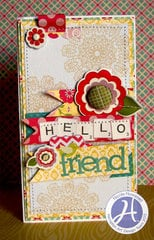 Hello Friend card by Nicole Nowosad
