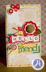 Hello Friend card by Nicole Nowosad