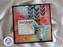 Don't Forget card by Vivian Keh