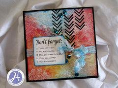 Don't Forget card by Vivian Keh
