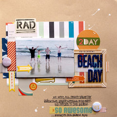 Beach Day {Scraptastic Club}