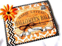 Marie Laveau Halloween Ball Card