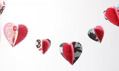 3D Heart Garland