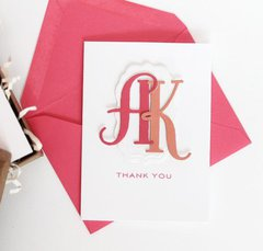 Monogramed Thank-You's