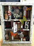 Tim Holtz-vintage configurations shadow box
