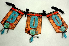 Graphic 45 Steampunk Spells BOO Halloween Banner