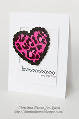 Love You Card by Christina Heeren