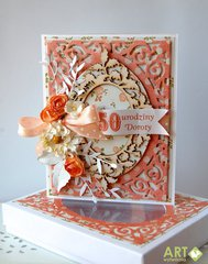 Filigree birthday card with matching box