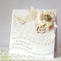 What God has joined together, let no one separate - wedding card in white