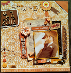 Just Married layout