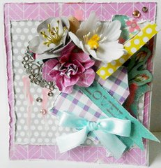 Lovely Hello Pastel Card