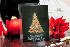 Clear base holiday card