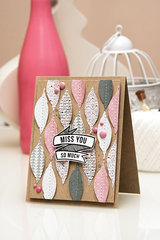 Spellbinders Miss You So Much Feathers Card