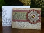 Merry Christmas card with rosette
