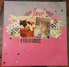 Fur Babies 12x12 Layout