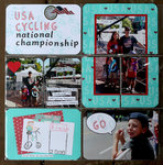 Project Life: USA Cycling pages featuring Hero Arts