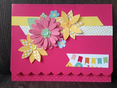 layered flowers all-occasion card
