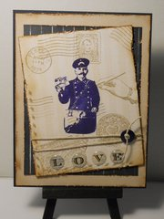 Vintage Postage from Deep Red Cling Stamps