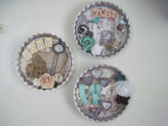 Altered Bottle Cap magnets