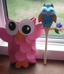 Owl Gift/Candy Box and Spoon