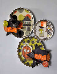 Trick or Treat BottleCap Magnets