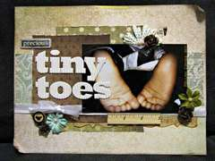 tiny toes **Paper Lovelies Feb 2012 kit)