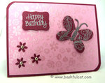 Pink Birthday Butterfly