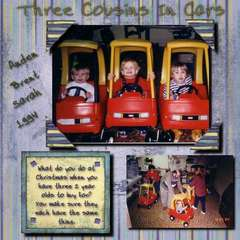 Three cousins In Cars