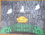 Graveyard with Ghosts Wrought Iron Gate
