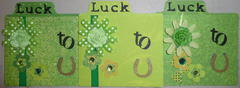 Luck to U St. Patricks Day flower cards 2013
