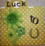 Luck to U St. Patricks Day card
