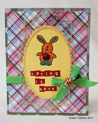 Spring is here card *Clear Scraps*