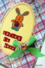 Spring is here card *Clear Scraps* close up1