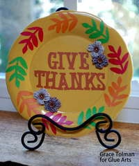 Give Thanks Plaque *Glue Arts*