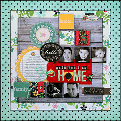 *With You I Am Home* NEW Simple Stories HOMESPUN