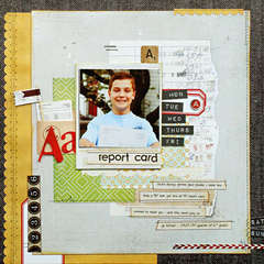 *A Report Card* NEW BasicGrey CLIPPINGS