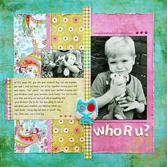 *Who R u?* Layout designed for ScrapFest
