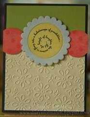 Embossed paper card