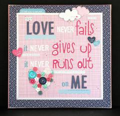 Love Never Fails canvas **Bella Blvd**