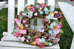 Spring Burlap wreath **Pebbles DT**