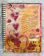 {Art Journaling} God's Hand