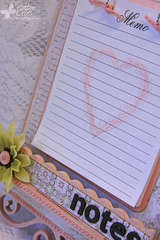 Love Note Memo Board Close-Up