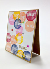 Thanks - with Silhouette Stamping Card