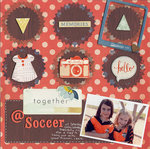 Together @ Soccer - with Silhouette Stamping Kit