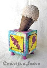 Artist Trading Block - Ice Cream Stand