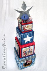Patriotic Artist Trading Block Tower