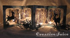 Woodlands Accordion Candle Screen