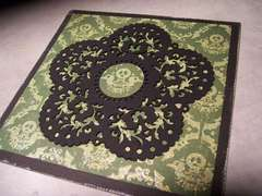Lace Doily 'Goth' card